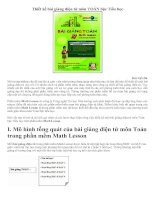 Thiết kế bài giảng điện từ môn toán bằng PM Math Lesson