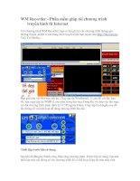WM Recorder - Phần mềm giúp tải chương trình truyền hình từ Internet