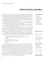 Nationality Guides