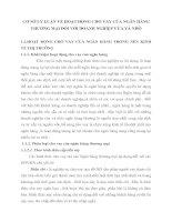 CƠ SỞ LÝ LUẬN VỀ HOẠT ĐỘNG CHO VAY CỦA NGÂN HÀNG THƯƠNG MẠI ĐỐI VỚI DOANH NGHIỆP VỪA VÀ NHỎ