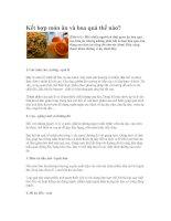 Kết hợp món ăn và hoa quả thế nào