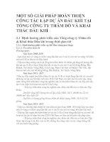 MỘT SỐ GIẢI PHÁP HOÀN THIỆN CÔNG TÁC LẬP DỰ ÁN DẦU KHÍ TẠI TỔNG CÔNG TY THĂM DÒ VÀ KHAI THÁC DẦU KHÍ