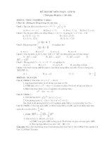 đề thi học kỳ I lớp 10