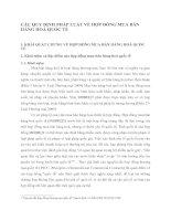 CÁC QUY ĐỊNH PHÁP LUẬT VỀ HỢP ĐỒNG MUA BÁN HÀNG HOÁ QUỐC TẾ