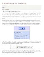 Tự tay thiết kế trang web riêng miễn phí