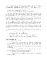 PHÂN TÍCH TIFH HÌNH TÀI CHÍNH CỦA CÔNG TY CÔNG TRÌNH GIAO THÔNG ĐÔ THỊ VÀ QUẢN LÝ NHÀ THỦ ĐỨC
