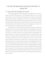 CÁC PHƯƠNG PHÁP ĐÁNH GIÁ CHẤT LƯỢNG DỊCH  VỤ TRONG VoIP