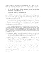 LÝ LUẬN CHUNG VỀ KẾ TOÁN TẬP HỢP CHI PHÍ SẢN XUẤT VÀ TÍNH GIÁ THÀNH SẢN PHẨM TRONG DOANH NGHIỆP XÂY LẮP
