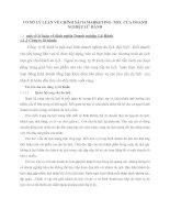 CƠ SỞ LÝ LUẬN VỀ CHÍNH SÁCH MARKETING- MIX  CỦA DOANH NGHIỆP LỮ HÀNH