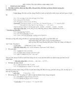 đề cương ôn tập Englíh 8-lý thuyết