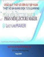 Soạn bài giảng điện tử E-Learning từ phần mềm Lecture Maker