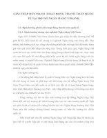 GIẢI PHÁP ĐẨY MẠNH  HOẠT ĐỘNG THANH TOÁN QUỐC TẾ TẠI HỘI SỞ NGÂN HÀNG VPBANK