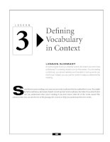 Defining Vocabulary in Context