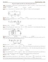 Bài tập trắc nghiệm mạch điện xoay chiều không phân nhánh