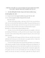 NHỮNG VẤN ĐỀ LÝ LUẬN CƠ BẢN VỀ  KẾ TOÁN NGUYÊN VẬT LIỆU TRONG DOANH NGHIỆP SẢN XUẤT