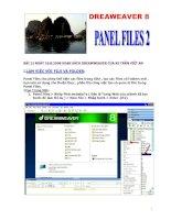 Hướng dẫn - Dreamweaver 8 - PanelFile 2