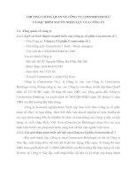 CHƯƠNG 2 TỔNG QUAN VỀ CÔNG TY CONSTREXIM SỐ 1