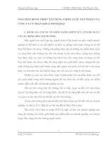 GIẢI PHÁP HOÀN THIỆN XÂY DỰNG CHIẾN LƯỢC SẢN PHẨM CỦA CÔNG TY CỔ PHẦN KHOÁ MINH KHAI