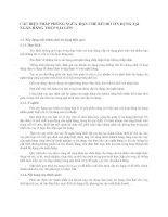CÁC BIỆN PHÁP PHÒNG NGỪA  HẠN CHẾ RỦI RO TÍN DỤNG TẠI NGÂN HÀNG TMCP SÀI GÒN