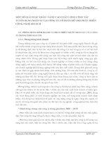 MỘT SỐ GIẢI PHÁP NHẰM  NÂNG CAO CHẤT LƯỢNG CÔNG TÁC TUYỂN DỤNG NHÂN SỰ TẠI CÔNG TY CỔ PHẦN HỖ TRỢ PHÁT TRIỂN CÔNG NGHỆ DETECH