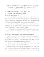 NHỮNG VẤN ĐỀ LÝ LUẬN CƠ BẢN VỀ  KẾ TOÁN NGUYÊN VẬT LIỆU  TRONG CÁC DOANH NGHIỆP SẢN XUẤT
