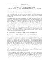 NGUỒN PHÁT SINH, KHỐI LƯỢNG, THÀNH PHẦN VÀ TÍNH CHẤT CHẤT THẢI RẮN ĐÔ THỊ