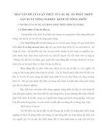 MẤY VẤN ĐỀ LÝ LUẬN THỰC TẾ CÁC DỰ ÁN PHÁT TRIỂN SẢN XUẤT NÔNG NGHIỆP   KINH TẾ NÔNG THÔN
