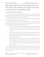 MỘT SỐ GIẢI PHÁP NHẰM HOÀN THIỆN CÔNG TÁC TRẢ LƯƠNG, TRẢ THƯỞNG TẠI CÔNG TY CỔ PHẦN TƯ VẤN - ĐẦU TƯ XÂY DỰNG BA ĐÌNH