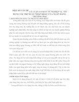 MỘT SỐ VẤN ĐỀ LÝ LUẬN CƠ BẢN VỀ NGHIỆP VỤ TÍN DỤNG TÀI TRỢ XUẤT NHẬP KHẨU CỦA NGÂN HÀNG THƯƠNG MẠI