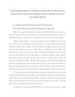 CƠ SỞ KHOA HỌC CỦA ĐỊNH GIÁ QUYỀN SỬ DỤNG ĐẤT LÀM TÀI SẢN BẢO ĐẢM TRONG HOẠT ĐỘNG CHO VAY