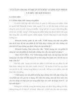 LÝ LUẬN CHUNG VỀ QUẢN LÝ CHẤT LƯỢNG SẢN PHẨM VÀ BIỂU ĐỒ KIỂM SOÁT