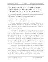 ĐỀ XUẤT MỘT SỐ GIẢI PHÁP NHẰM NÂNG CAO HIỆU QUẢ KINH DOANH XUẤT KHẨU HÀNG MAY MẶC CỦA CÔNG TY CỔ PHẦN ĐẦU TƯ VÀ THƯƠNG MẠI TNG