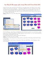 cách tạo đồng hồ đếm ngược bằng Powerpoint 2003