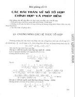 Các bài toán về tổ hợp, chỉnh hợp và phép đếm