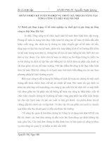 HOÀN THIỆN KẾ TOÁN NGHIỆP VỤ THUẾ GIÁ TRỊ GIA TĂNG TẠI  TỔNG CÔNG TY DỆT MAY HÀ NỘI