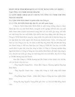 PHÂN TÍCH TÌNH HÌNH QUẢN LÝ VÀ SỬ DỤNG VỐN LƯU ĐỘNG TẠI CÔNG TY TNHH TM HÀ THANH