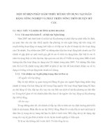 MỘT SỐ BIỆN PHÁP GIẢM THIỂU RỦI RO TÍN DỤNG TẠI NGÂN HÀNG NÔNG NGHIỆP VÀ PHÁT TRIỂN NÔNG THÔN HUYỆN MỎ CÀY