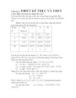 Chương 6: Xác định tải trọng tác dụng lên trục