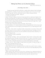 Những Cuộc Phiêu Lưu Của Sherlock Holmes - Giải Băng Lốm Đốm