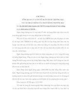 TỔNG QUAN LÝ LUẬN VỀ NGÂN HÀNG THƯƠNG MẠI VÀ CÁC HOẠT ĐỘNG CỦA NGÂN HÀNG THƯƠNG MẠI