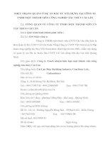 THỰC TRẠNG QUẢN LÝ DỰ ÁN ĐẦU TƯ XÂY DỰNG TẠI CÔNG TY TNHH MỘT THÀNH VIÊN CÔNG NGHIỆP TẦU THỦY CÁI LÂN