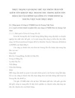 THỰC TRẠNG VẬN DỤNG THỦ TỤC PHÂN TÍCH VỚI KIỂM TỐN KHOẢN MỤC DOANH THU TRONG KIỂM TỐN BÁO CÁO TÀI CHÍNH TẠI CÔNG TY TNHH ERNST & YOUNG VIỆT NAM THỰC HIỆN