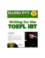 Writing for toefl ibt book 3rd eidition part 1