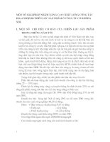 MỘT SỐ GIẢI PHÁP NHẰM NÂNG CAO CHẤT LƯỢNG CÔNG TÁC HOẠCH ĐỊNH CHIẾN LƯỢC SẢN PHẨM Ở CÔNG TY CƠ KHÍ HÀ NỘI.