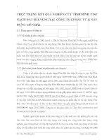 THỰC TRẠNG KẾT QUẢ NGHIÊN CỨU TÌNH HÌNH TTSP GẠCH ĐẤT SÉT NUNG TẠI  CÔNG TY CP ĐẦU TƯ & XÂY DỰNG TIỀN HẢI