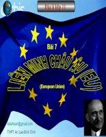 Bai7 Liên Minh Châu Âu EU