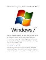 Kiểm tra khả năng tương thích của Windows 7 – Phần 3