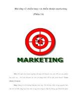 Hỏi đáp về chiến lược và chiến thuật marketing (Phần 14)