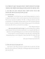 VAI TRÒ CỦA QUY HOẠCH PHÁT TRIỂN KINH TẾ XÃ HỘI TRONG HỆ THỐNG KẾ HOẠCH HÓA KINH TẾ QUỐC DÂN