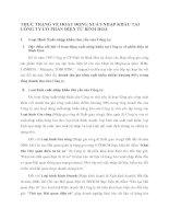 THỰC TRẠNG VỀ HOẠT ĐỘNG XUẤT-NHẬP KHẨU TẠI CÔNG TY CỔ PHẦN ĐIỆN TỬ BÌNH HOÀ